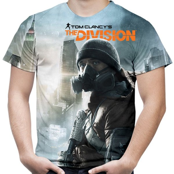 Camiseta Masculina Tom Clancy's The Division Estampa Total