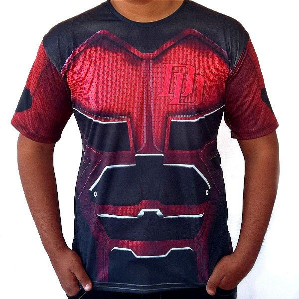 Camiseta Masculina Demolidor Daredevil Traje Estampa Total