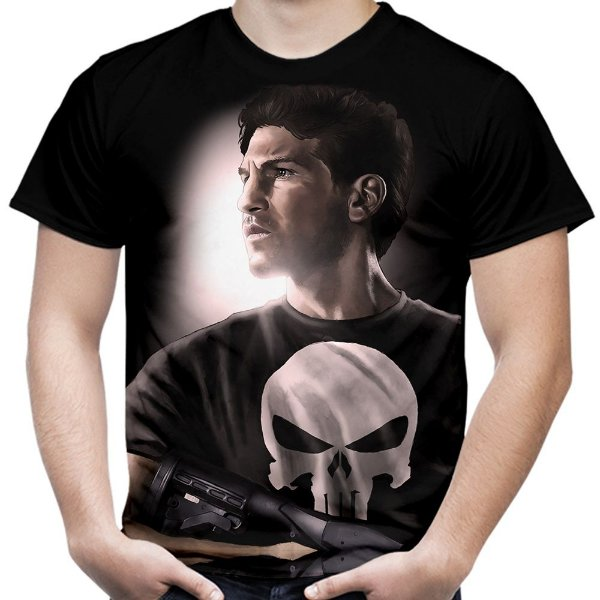 Camiseta Masculina Punisher Estampa Total