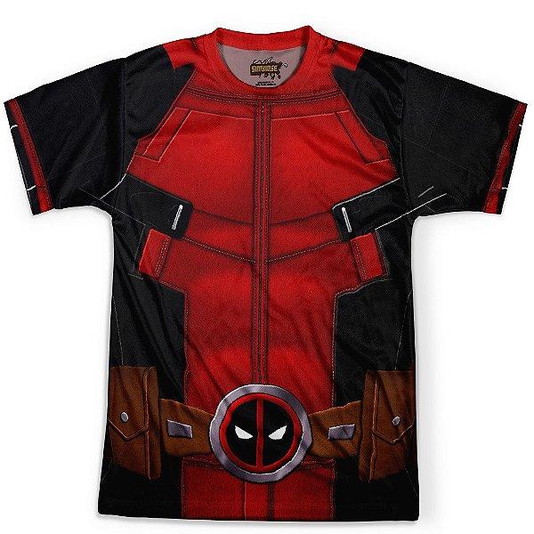 Camiseta Masculina Deadpool Traje Estampa Total