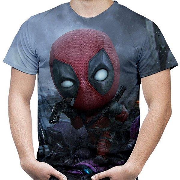 Camiseta Masculina Deadpool Estampa Total MD04