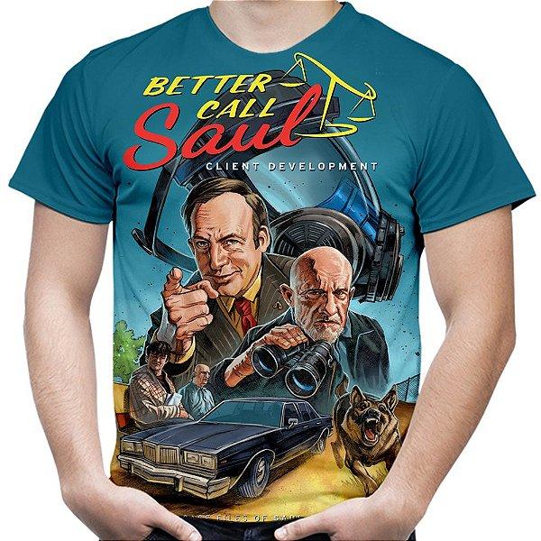 Camiseta Masculina Better Call Saul Estampa Total Md03