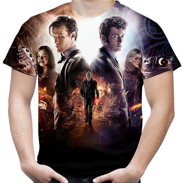 Camiseta Masculina Doctor Who Estampa Total Md02