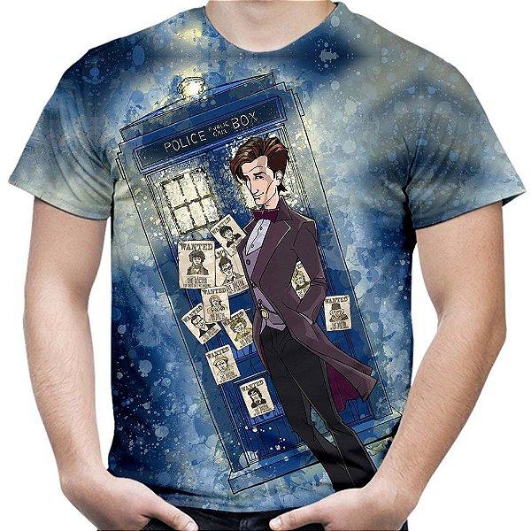 Camiseta Masculina Doctor Who Estampa Total Md06