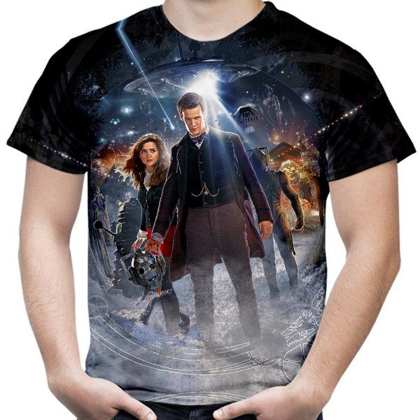 Camiseta Masculina Doctor Who Estampa Total Md07