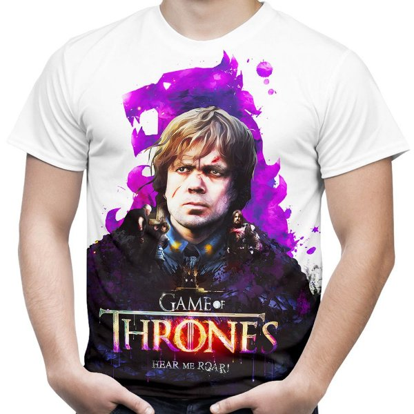 Camiseta Masculina Game of Thrones Tyrion Lannister Estampa Total