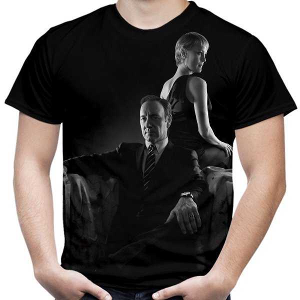 Camiseta Masculina House of Cards Estampa Total Md02