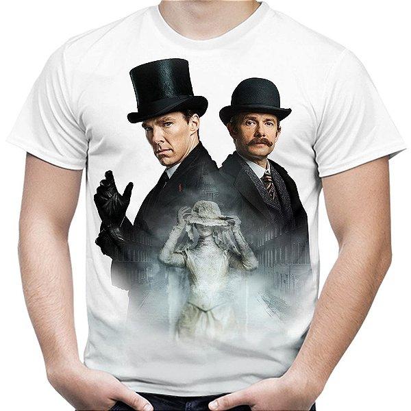 Camiseta Masculina Sherlock Estampa Total Md02