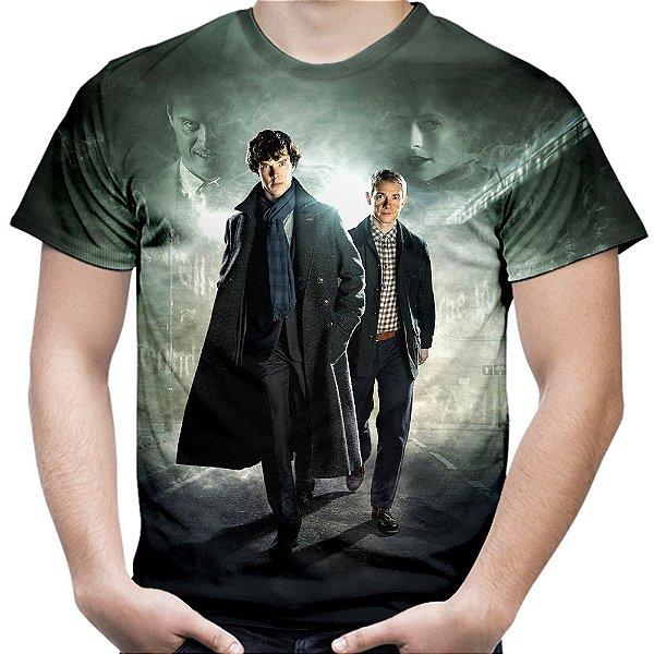 Camiseta Masculina Sherlock Estampa Total Md03