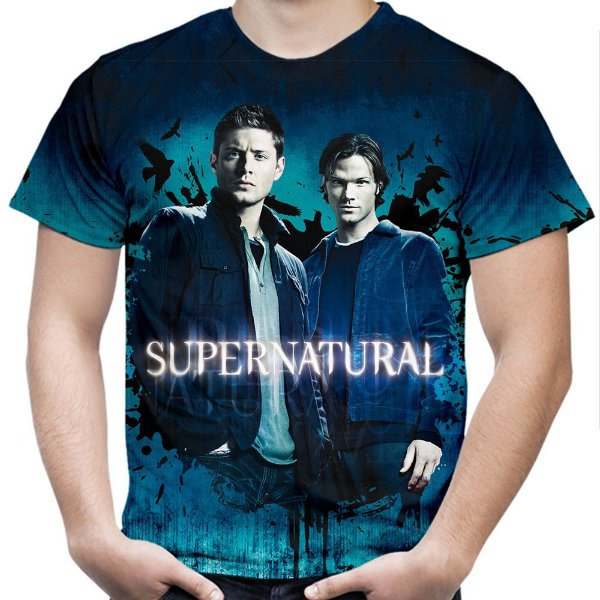 Camiseta Masculina Supernatural Estampa Total Md03