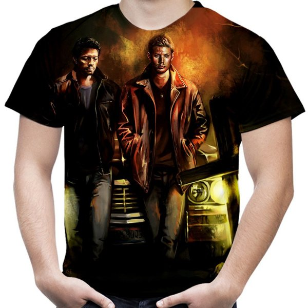 Camiseta Masculina Supernatural Estampa Total Md04