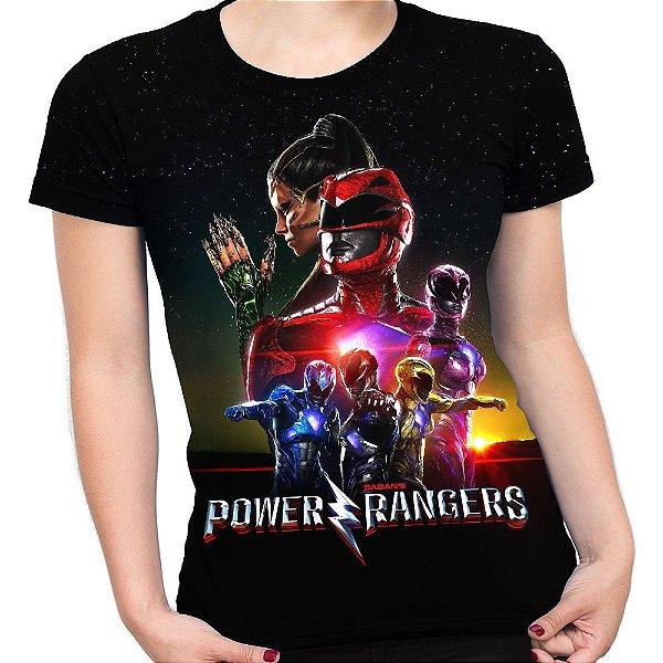 Baby look Feminina Power Rangers Estampa Total Md03