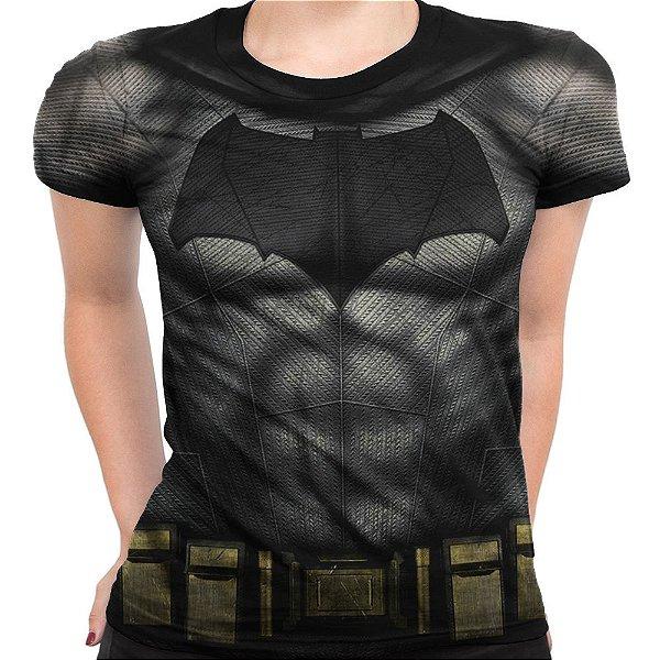 Baby look Feminina Batman Armadura Estampa Total Md02