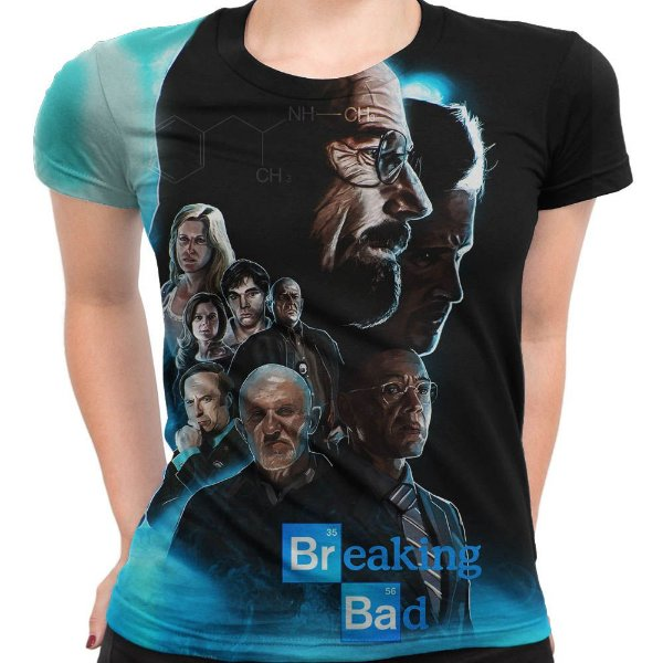 Baby look Feminina Breaking Bad Estampa Total Md04