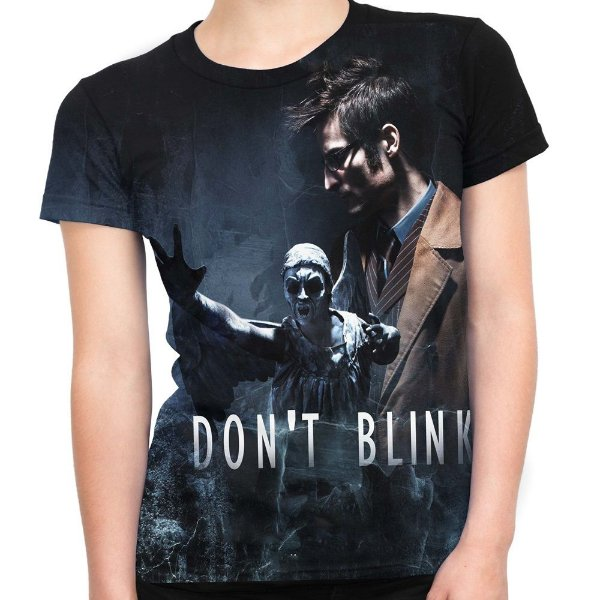 Baby look Feminina Don't Blink Doctor Who Estampa Total Md02