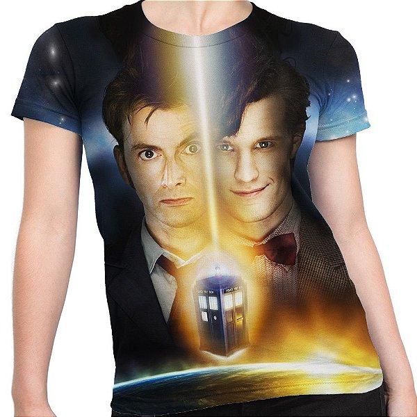 Baby look Feminina Doctor Who Estampa Total Md05