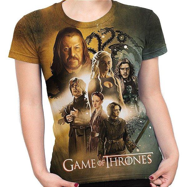 Baby look Feminina Game Of Thrones Estampa Total Md03