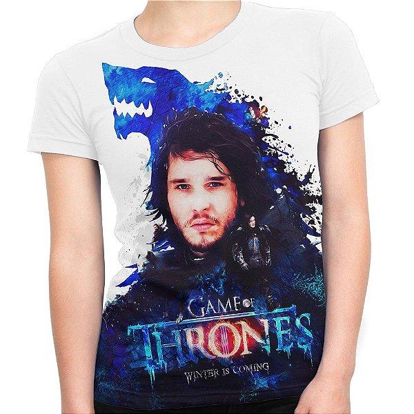 Baby look Feminina Game of Thrones Jon Snow Estampa Total