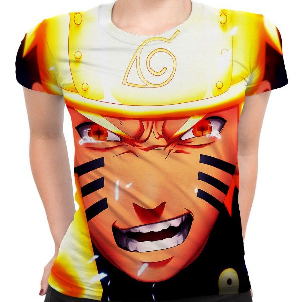 Baby look Feminina Naruto Shippuuden Estampa Total MD02