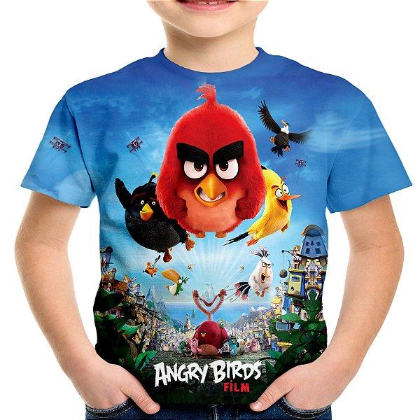 Camiseta Infantil Filme Angry Birds Estampa Total