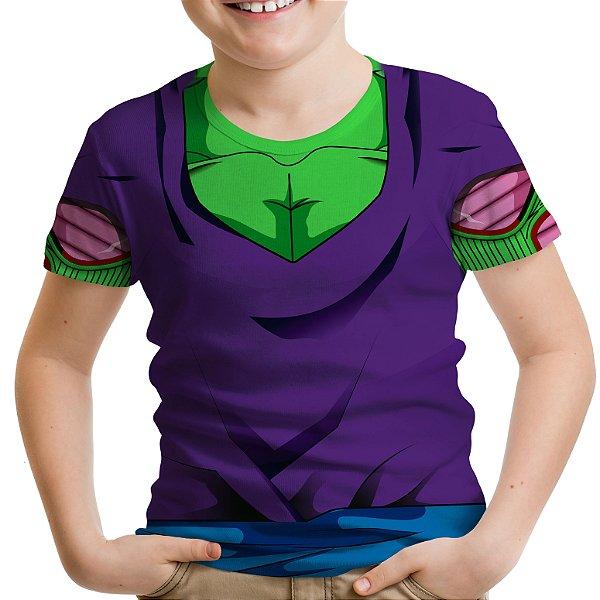 Camiseta Infantil Traje Piccolo Estampa Total