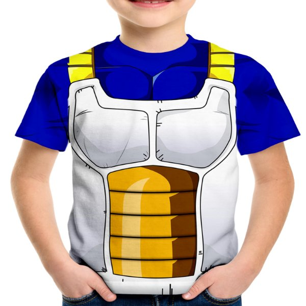 Camiseta Infantil Traje Vegeta Estampa Total