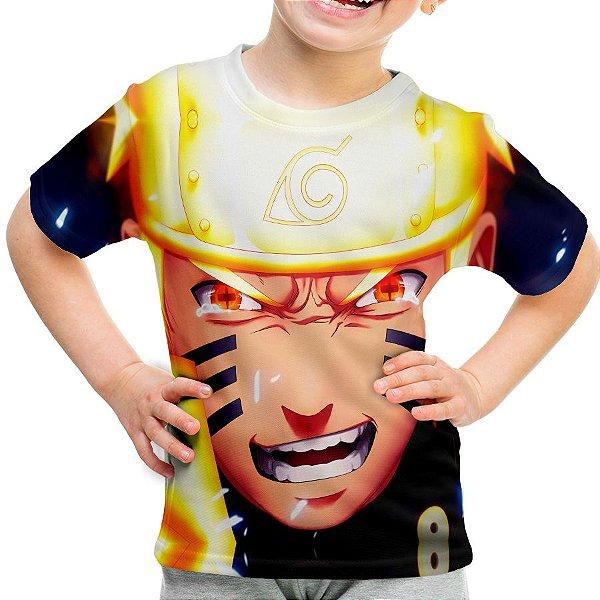 Camiseta Infantil Naruto Shippuuden Estampa Total MD02