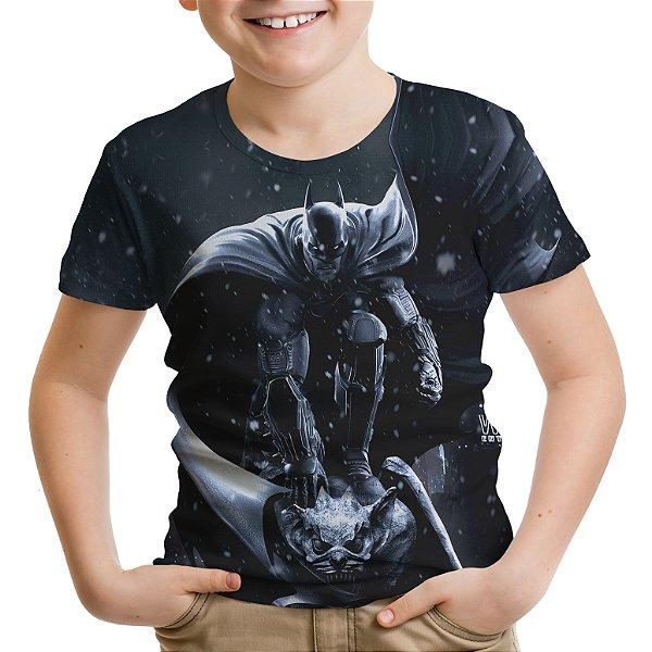 Camiseta Infantil Batman Arkham Estampa Total