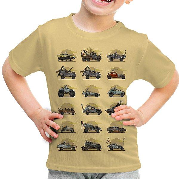 Camiseta Infantil Mad Max Carros Estampa Total