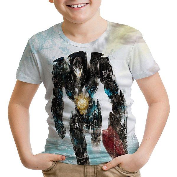 Camiseta Infantil Círculo de Fogo Pacific Rim Estampa Total