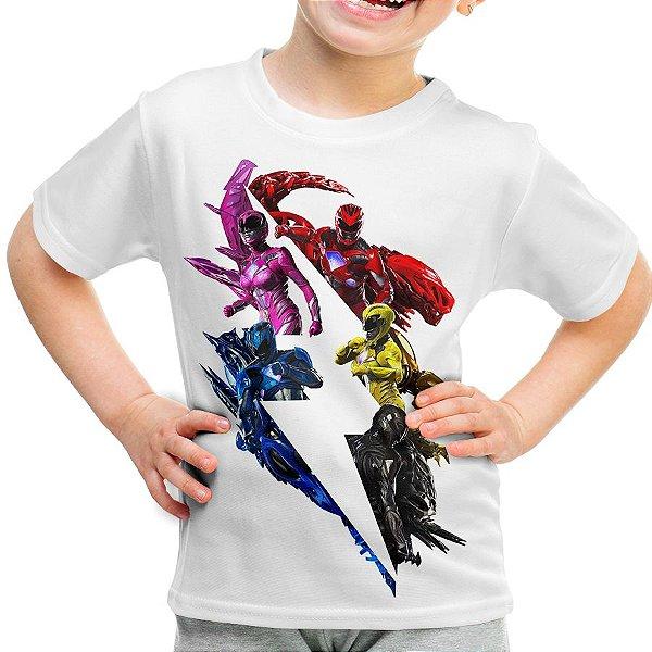 Camiseta Infantil Power Rangers Estampa Total Md02