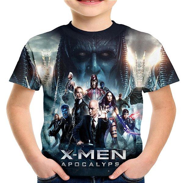 Camiseta Infantil X Men Estampa Total Md01