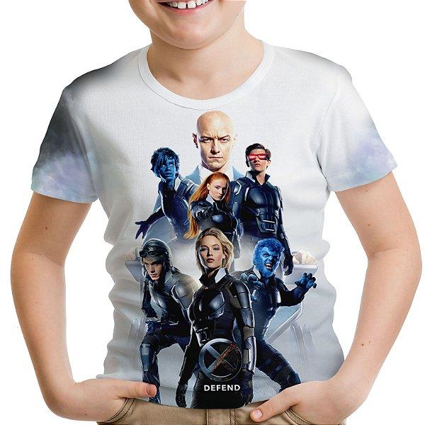 Camiseta Infantil X Men Estampa Total Md02