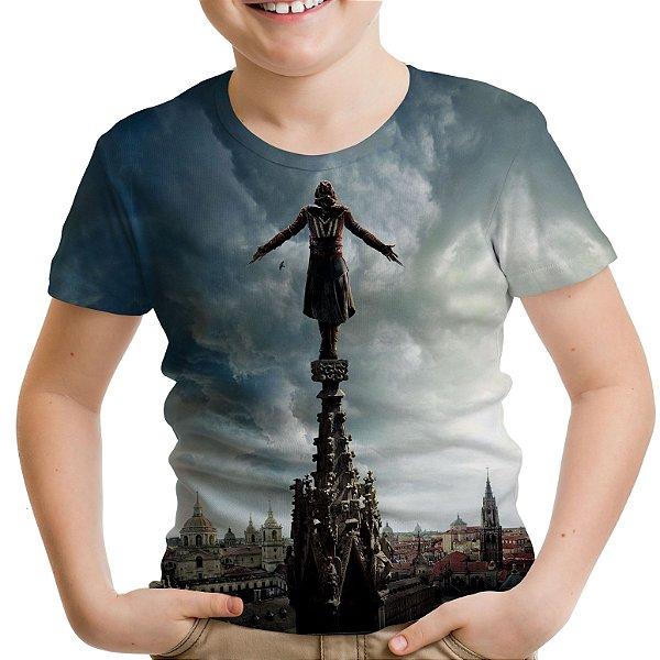 Camiseta Infantil Assassin's Creed Filme Estampa Total Md02