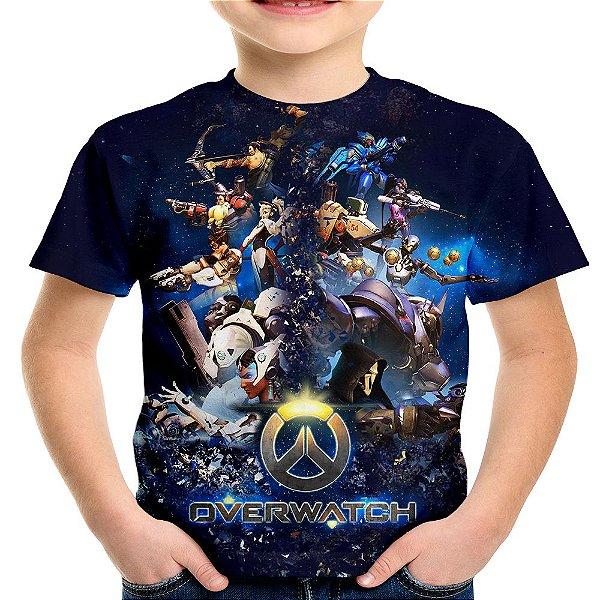 Camiseta Infantil Overwatch Estampa Total Md01