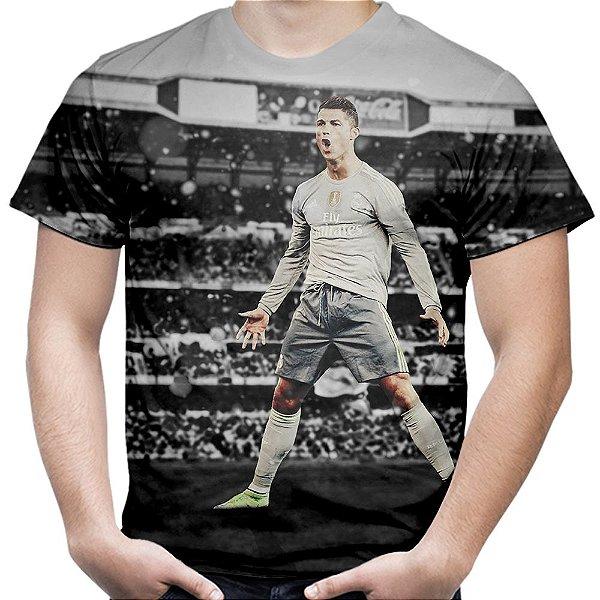 Camiseta Masculina Cristiano Ronaldo CR7 Estampa Total Md01