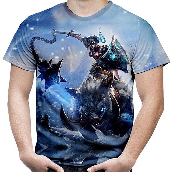 Camiseta Masculina Sejuani Jogo League Of Legends Camisa Lol