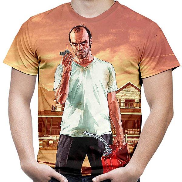 Camiseta Masculina Gta V Travor Estampa Digital