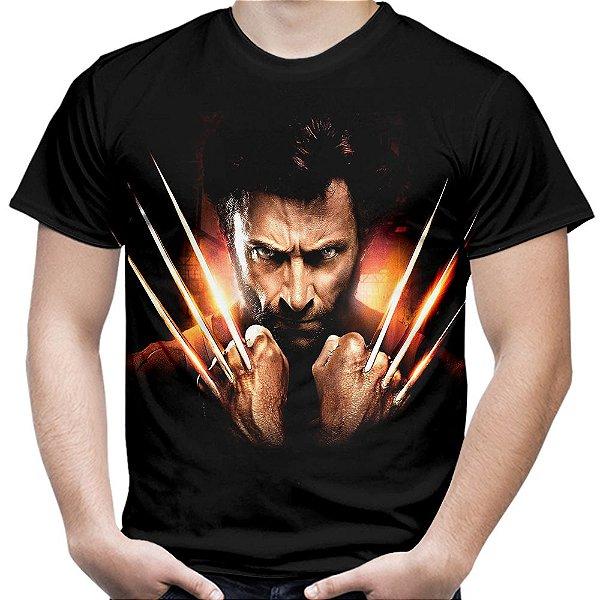 Camiseta Masculina Wolverine Volverine Logan Md04
