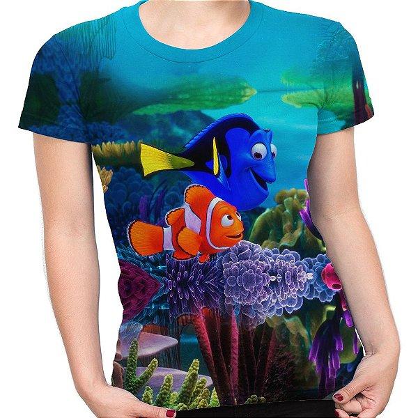 Camiseta Baby Look Feminina Procurando Nemo Animação Md02