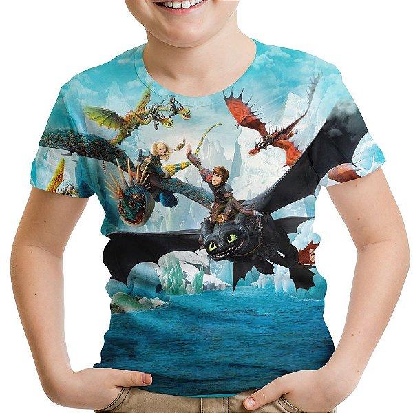 Camiseta Infantil Como Treinar Seu Dragão Soluço Banguela Md02