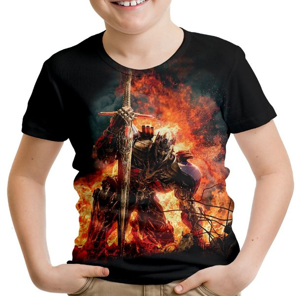Camiseta Infantil Transformers Autobots Estampa Digital