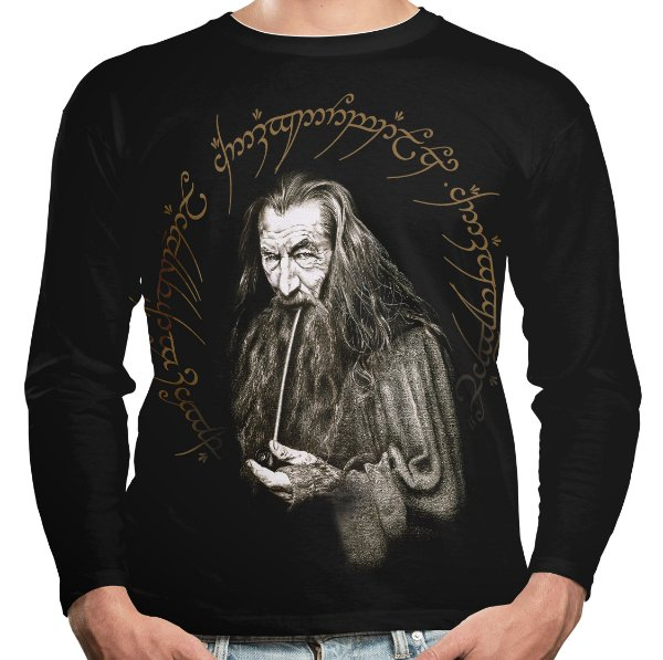 Camiseta Manga Longa Gandalf Senhor dos Anéis Md01
