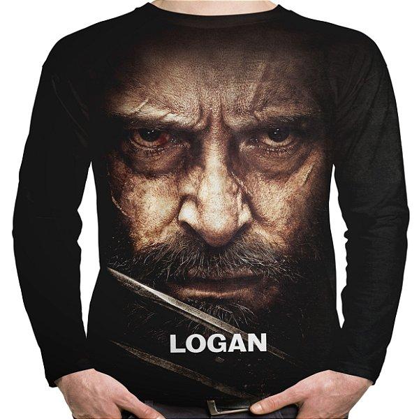 Camiseta Masculina Manga Longa Filme Logan Wolverine