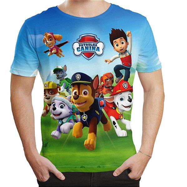 Camiseta Masculina Patrulha Canina