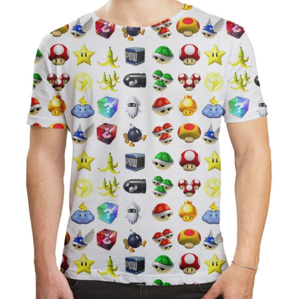 Camiseta Masculina Super Mário Bros Icones Md05