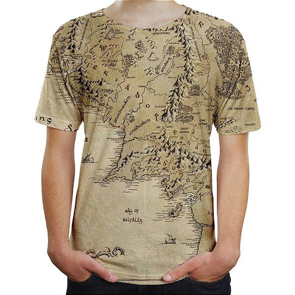 Camiseta Camisa Masculina Terra Média Senhor Dos Anéis