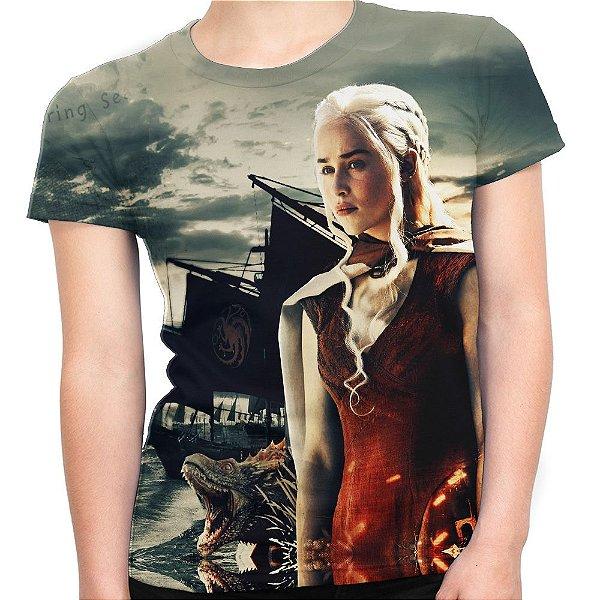 Camiseta Baby Look Feminina Game Of Thrones Daenerys Md05