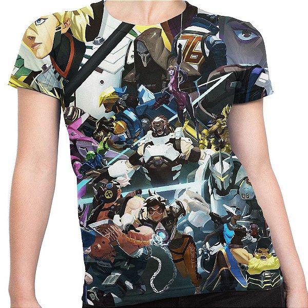Camiseta Baby Look Feminina Overwatch Over Watch Md05