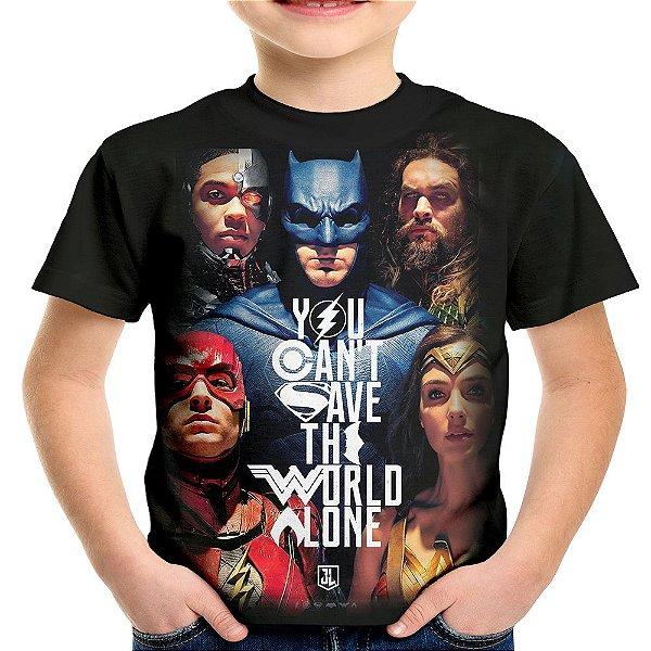 Camiseta Infantil Liga da Justiça Md02